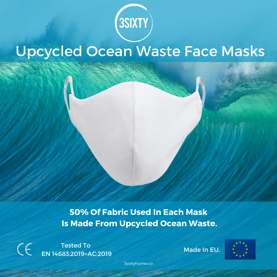 Upcycled Ocean Waste Face Masks 3SIXTY