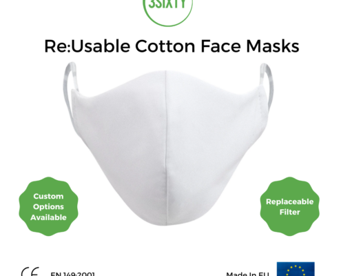 Re Usable Cotton Face Masks 3SIXTY