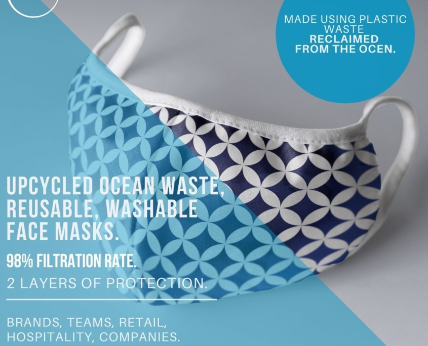 Re Usable Ocean Waste Face Masks 3SIXTY