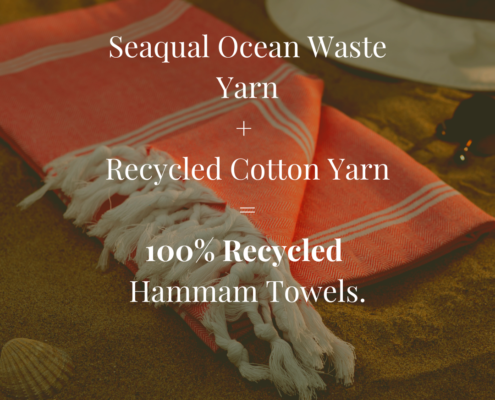 Hammam Towels Made From 100% Recycled Materials. 3SIXTY
