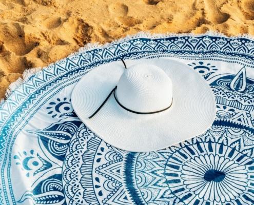 circular beach towel
