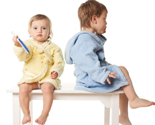 recycled kids bathrobe
