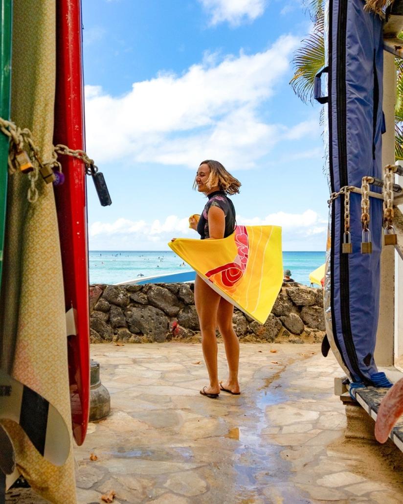 sustainable beach towel