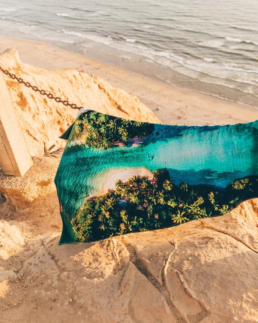 eco printed towel