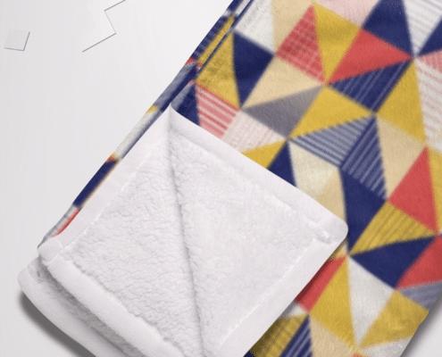 recycled printed fleece