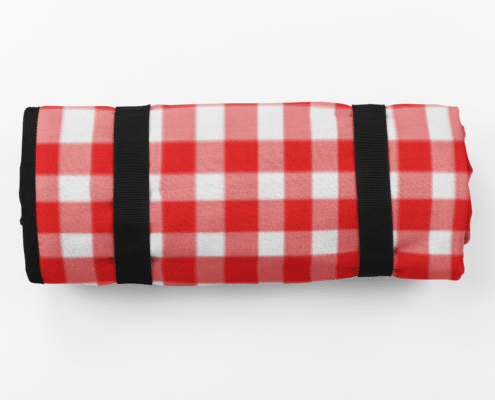 red check picnic blanket