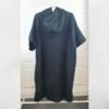 cotton surf poncho black