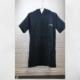 cotton surf poncho - black