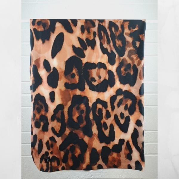 leopard print travel blanket